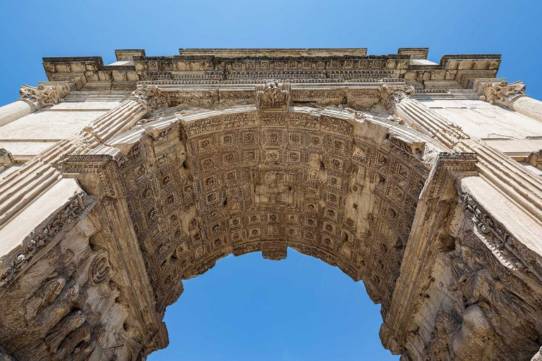 Arch of Septimius Severus at the Forum in Rome - © Michael Evans Photographer 2015