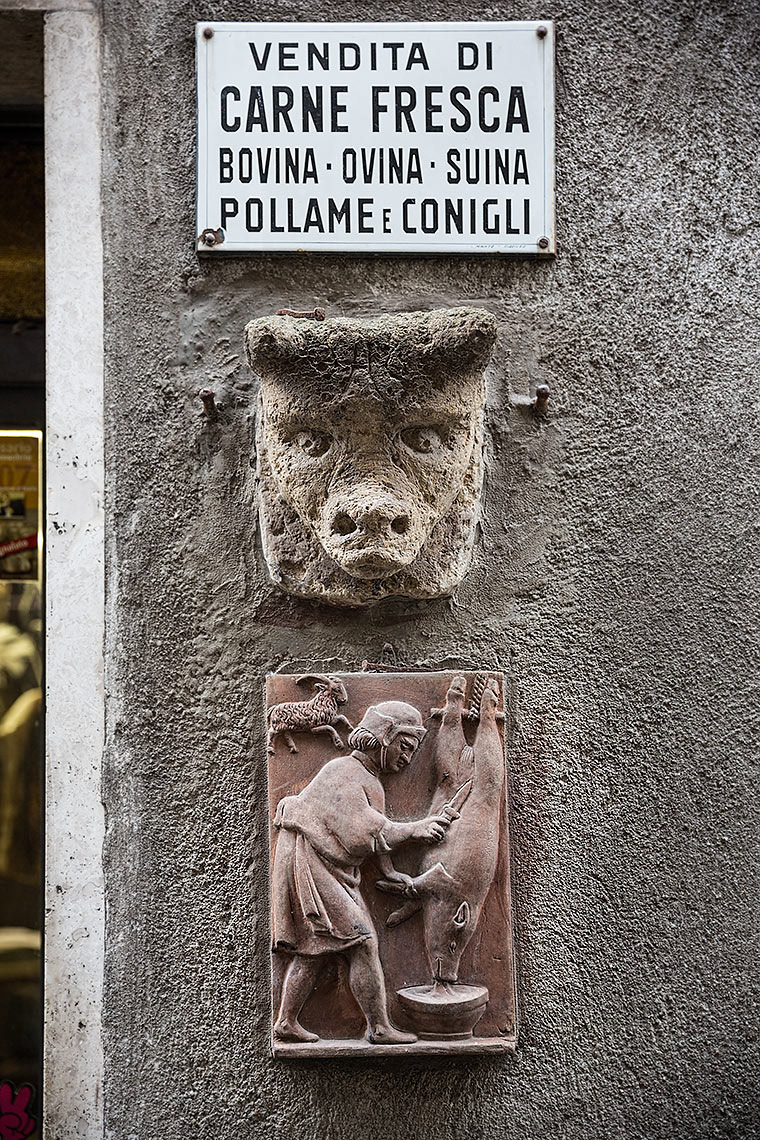 Butchers shop signage in Pitigliano - © Michael Evans Photographer 2015
