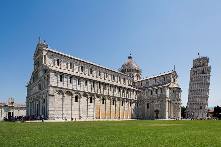 Pisa Cathedral with the Leaning Tower of Pisa © Michael Evans Photographer 2015