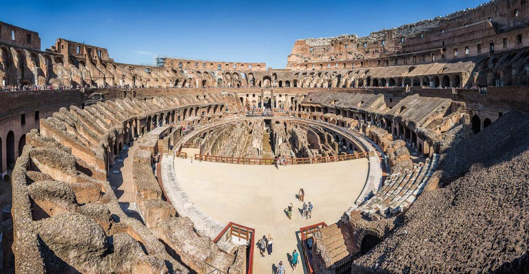Panoramic image from the interior of the Colosseum, Rome - © Michael Evans Photographer 2015
