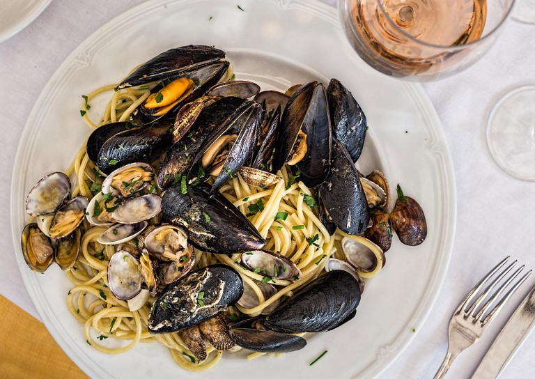 Seafood Pasta in Trastevere, Rome - © Michael Evans Photographer 2015