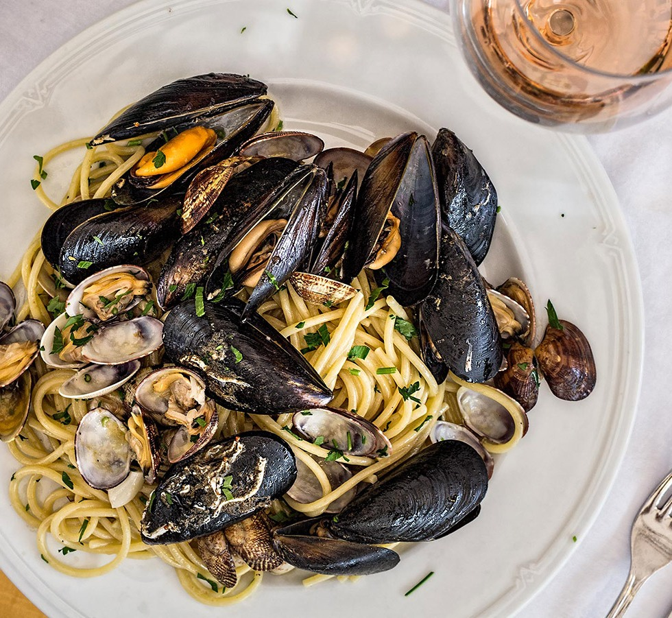 Seafood Pasta in Trastevere, Rome - © Michael Evans Photographer 2015