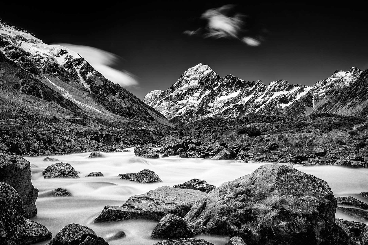 Long exposure image of Mount Cook, New Zealand © Michael Evans Photographer 2015