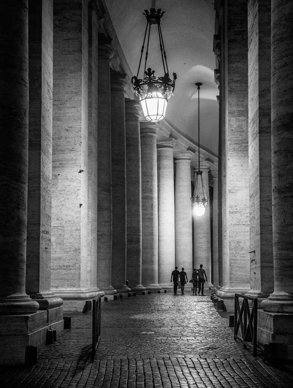 Columns at St Peter's Rome © Michael Evans Photographer 2016