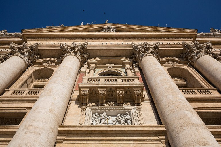 The Papal balcony at St Peter's, Rome © Michael Evans Photographer 2016