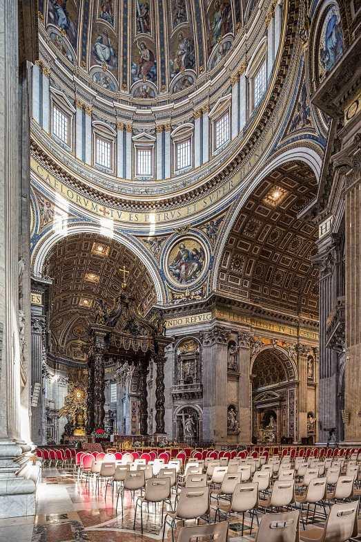 Inside St Peter's Rome © Michael Evans Photographer 2016