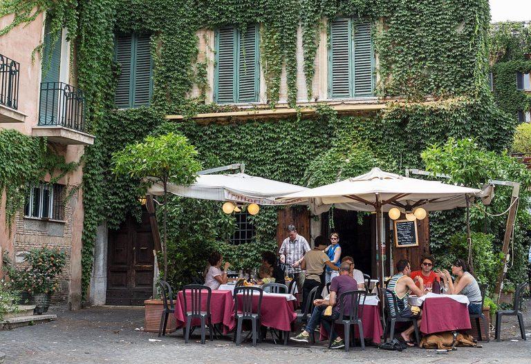 Ta Deo restaurant, Trastevere, Rome © Michael Evans Photographer 2016