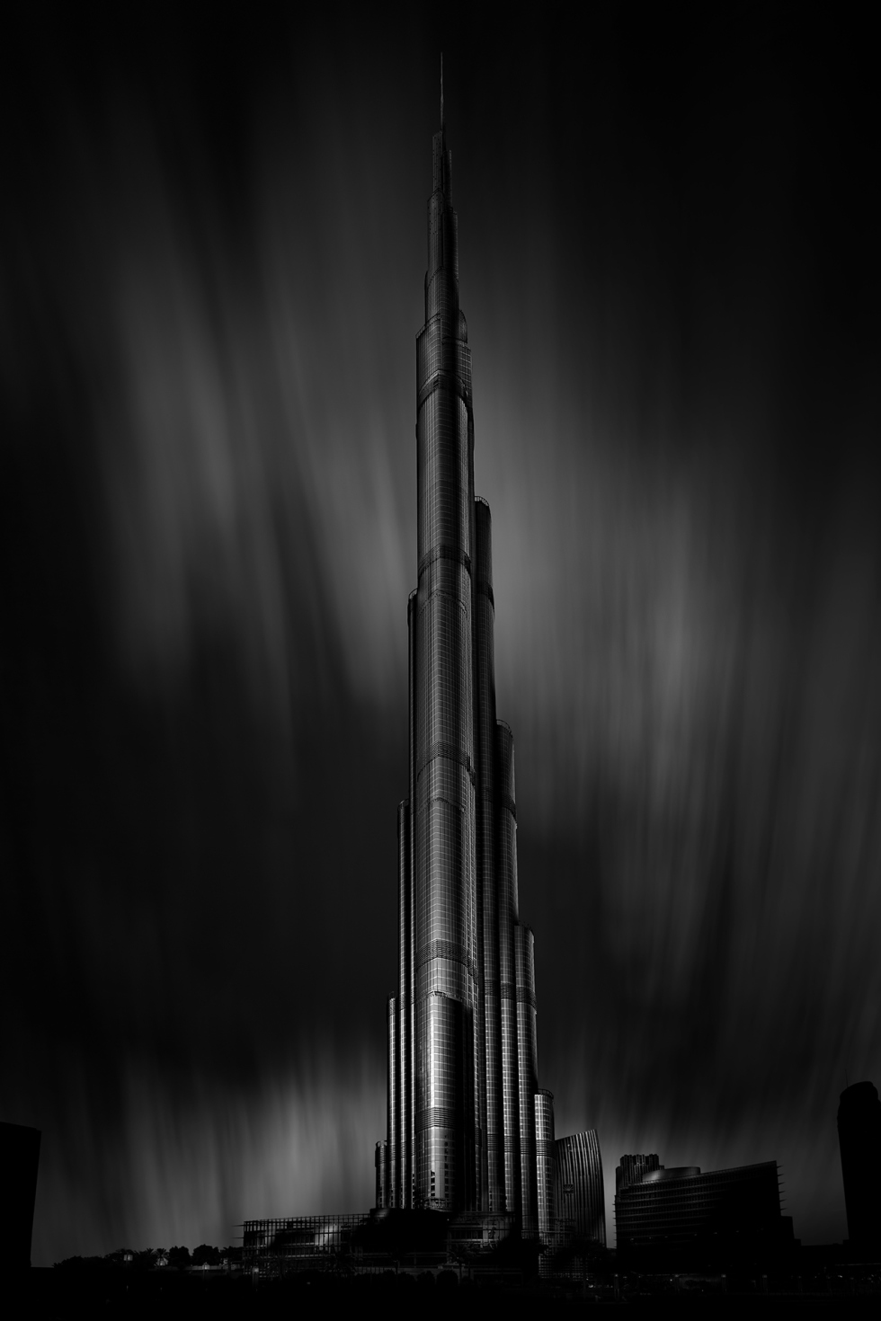 Burj Khalifa Architectural Fine Art Black and white © Michael Evans Photographer 2016 - www.michaelevansphotographer.com