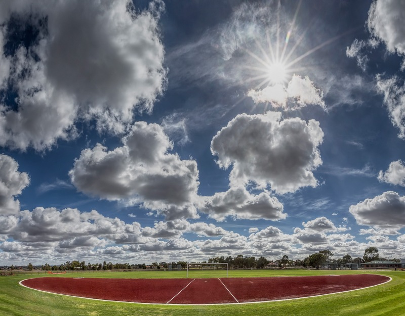 Recycled tyres being used for sporting surfaces and running tracks in Melbourne Australia © Michael Evans Photographer 2016