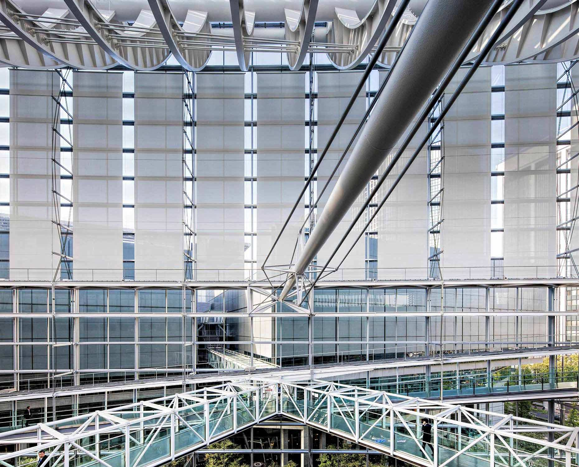 Interior view of the International Forum Building in Tokyo by Melbourne based commercial photographer Michael Evans © Michael Evans Photographer 2017