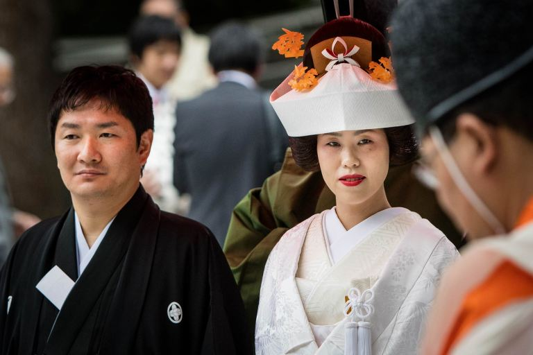 Wedding ceremony at Meiji Shrine, Tokyo© Michael Evans Photographer 2017