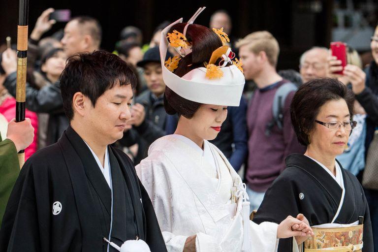 Wedding ceremony at Meiji Shrine, Tokyo© Michael Evans Photographer 2017