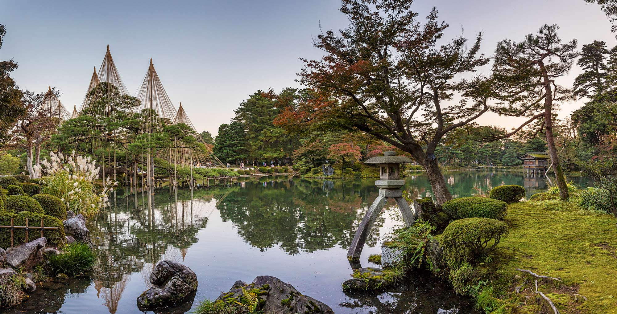 Panoramic image of Kenrokuen Gardens Kanazawa © Michael Evans Photographer 2017