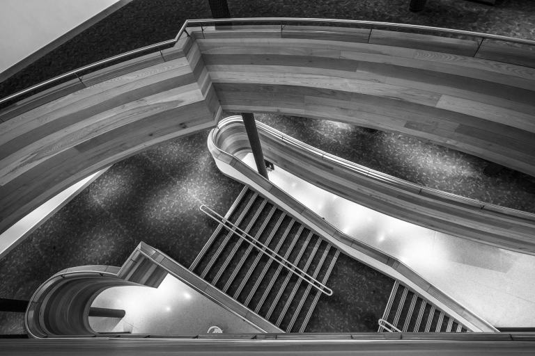 Stairwell view inside the Millennium Centre Wales © Michael Evans Photographer 2017