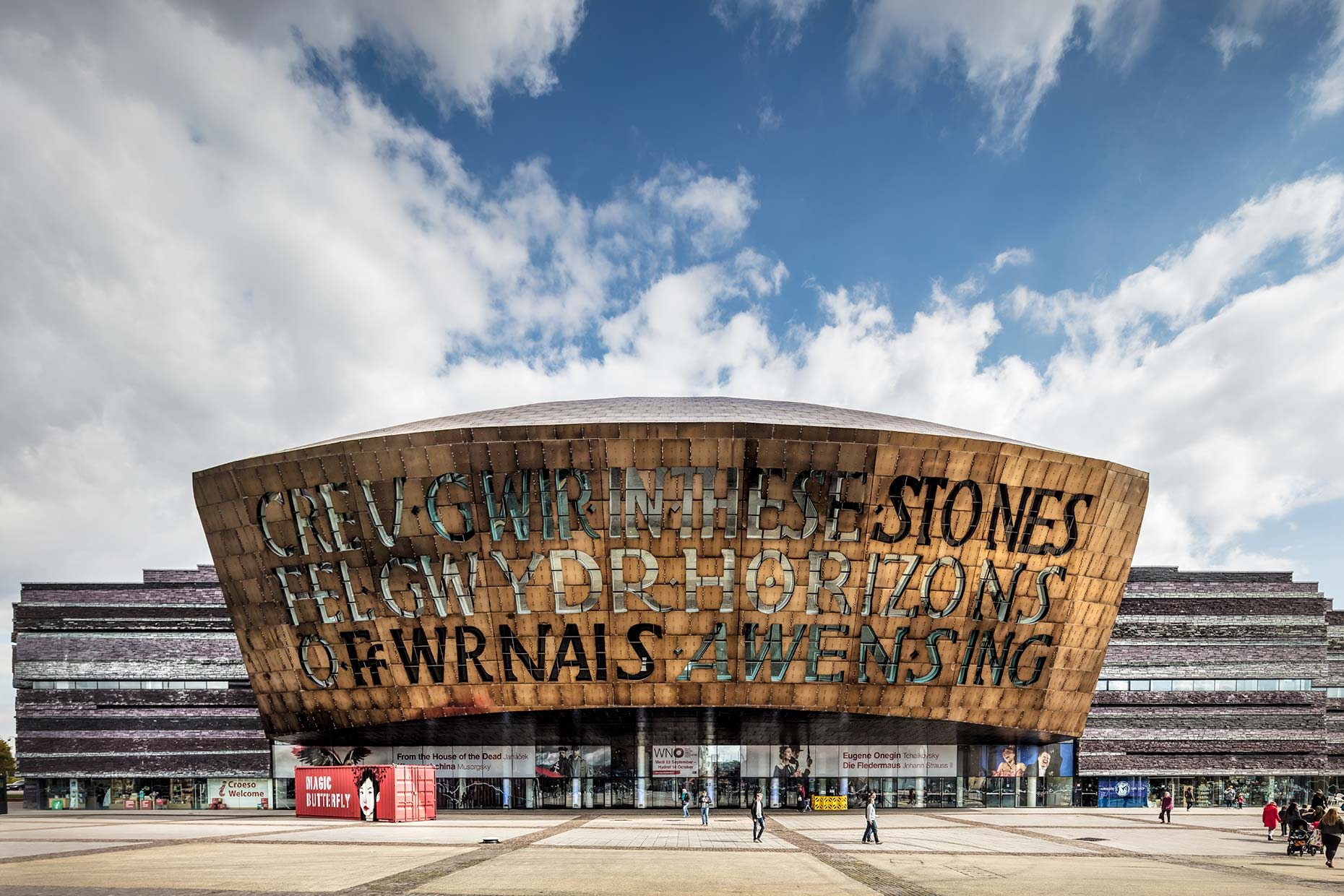 Exterior view of the Wales Millennium Centre, Cardiff Bay © Michael Evans Photographer 2017