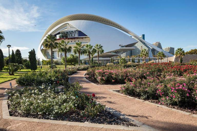 © Michael Evans Photographer 2018 Daytime view of the Valencia City of Arts and Sciences