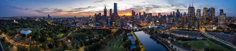Melbourne Australia aerial view © Michael Evans Photographer 2019
